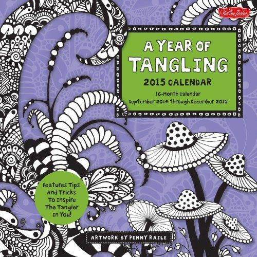 Tangle Tangle Tangle - Mushroom Zentangle