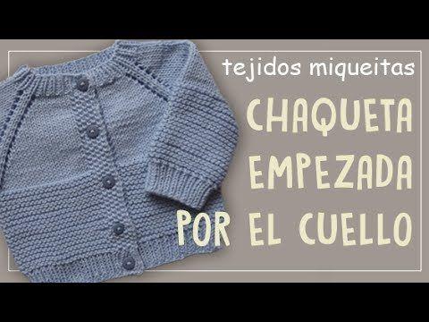 f15cf0742da3 Tutorial para tejer abrigo para niño o niña en dos agujas - YouTube ...