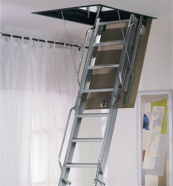 Best Mobirolo L3 Steel Folding Loft Ladder In 2020 Attic 400 x 300