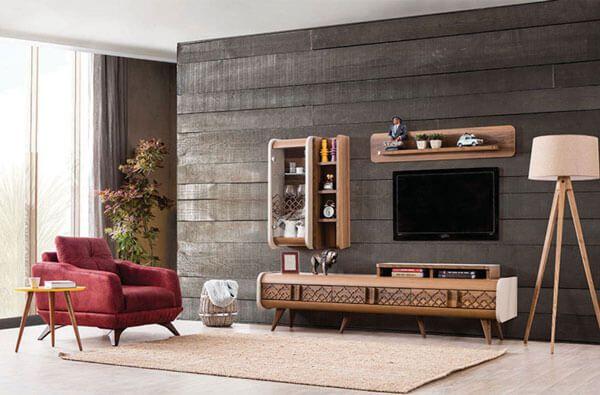 ahsap tv unitesi modelleri icin 25 tasarim fikri dekordiyon luks oturma odalari mobilya oturma odasi dekorasyonu