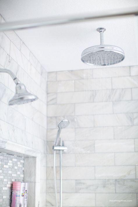 Bathroom Makeover Marble Tile Bathroom White Bathroom