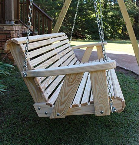 Amazon.com : Jack Post Jennings Traditional 4 Foot Swing Seat With Chains  In Unfinished Cypress : Porch Swings : Patio, Lawn U0026 Garden