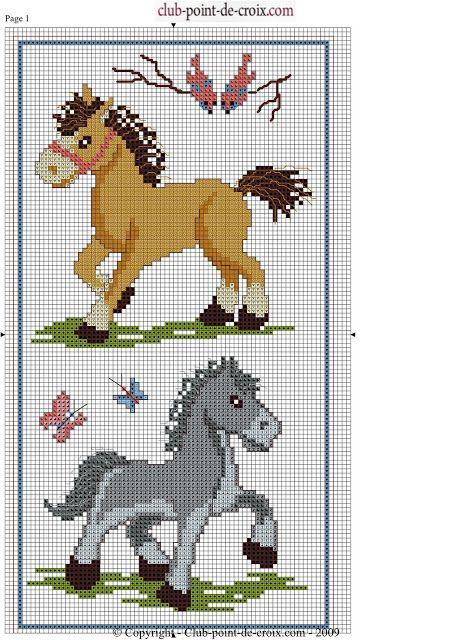 Σχέδια με άλογα για κέντημα / Ηorse cross stitch patterns