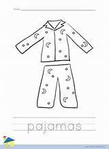 Pajamas Coloring Page Outline Arte De Jardin De Infantes