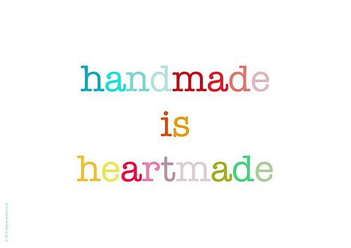 Free handmade is heartmade print - a photo on Flickriver