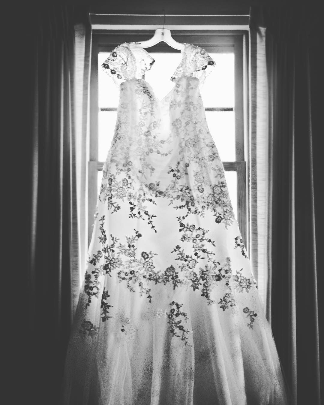 A picture of my dress. I'm absolutely in love with this photo  #wedding #weddingdress #married photo cred @schultzk44 by photographergirl55