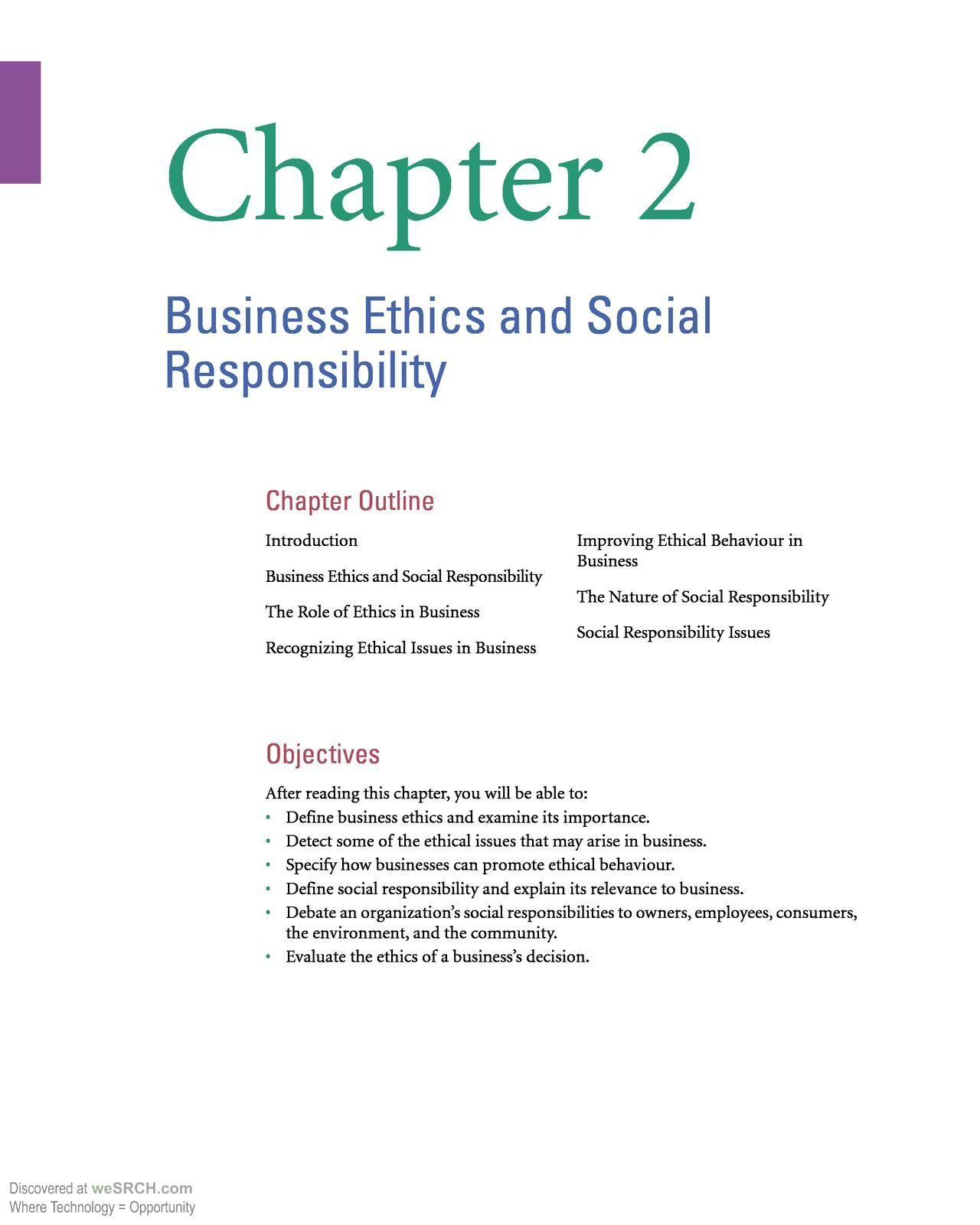 business ethics and social responsibility businessethics  business ethics papers business ethics and social responsibility