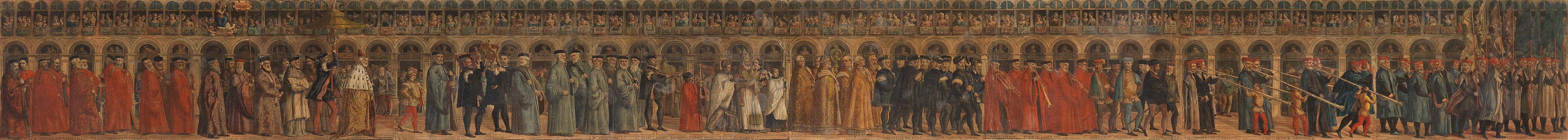 Processione del Doge nella Domenica delle Palme - Matteo Pagan (?-1562) Doge, Spazi, Arredamento D'interni, Style
