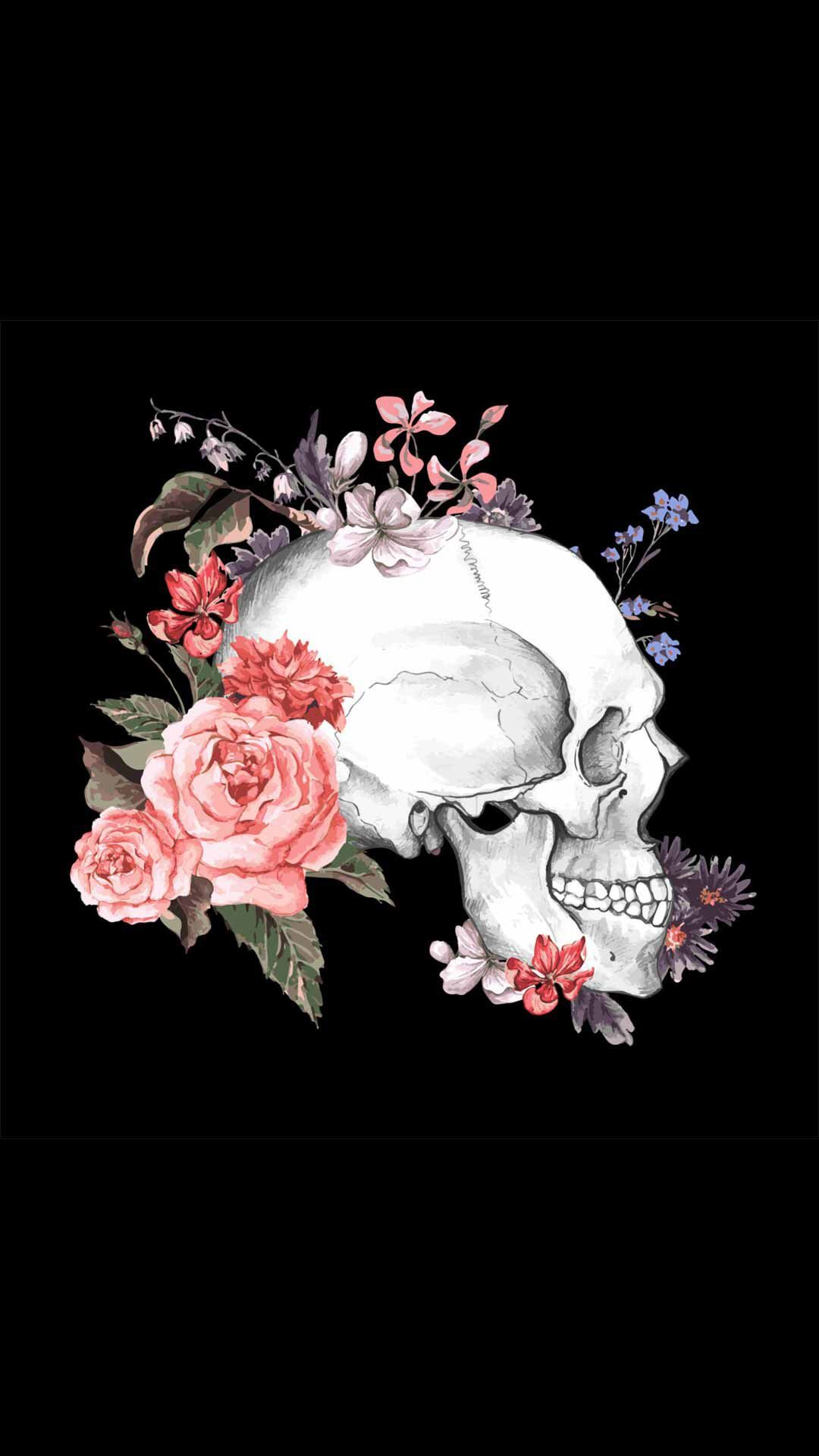 Pin by Gail LaFlamme on Skulls Decorated | Pinterest | Wallpaper ...