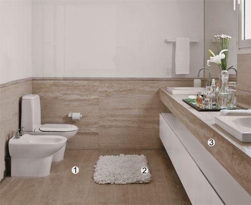 Um banheiro com muito luxo  Banheiros, Lavabos e Luxo -> Decoracao De Banheiros Com Artesanato