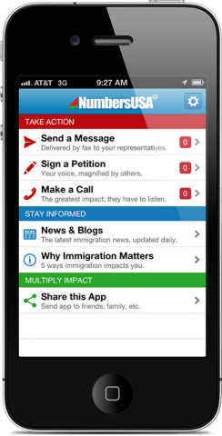 iPhone App Screenshot Immigration reform, Mobile app