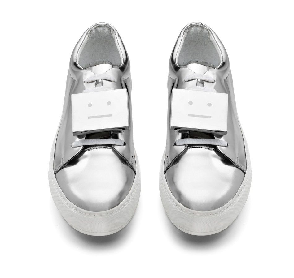 Acne Studios Adrian Metal Silver Leather tennis shoes
