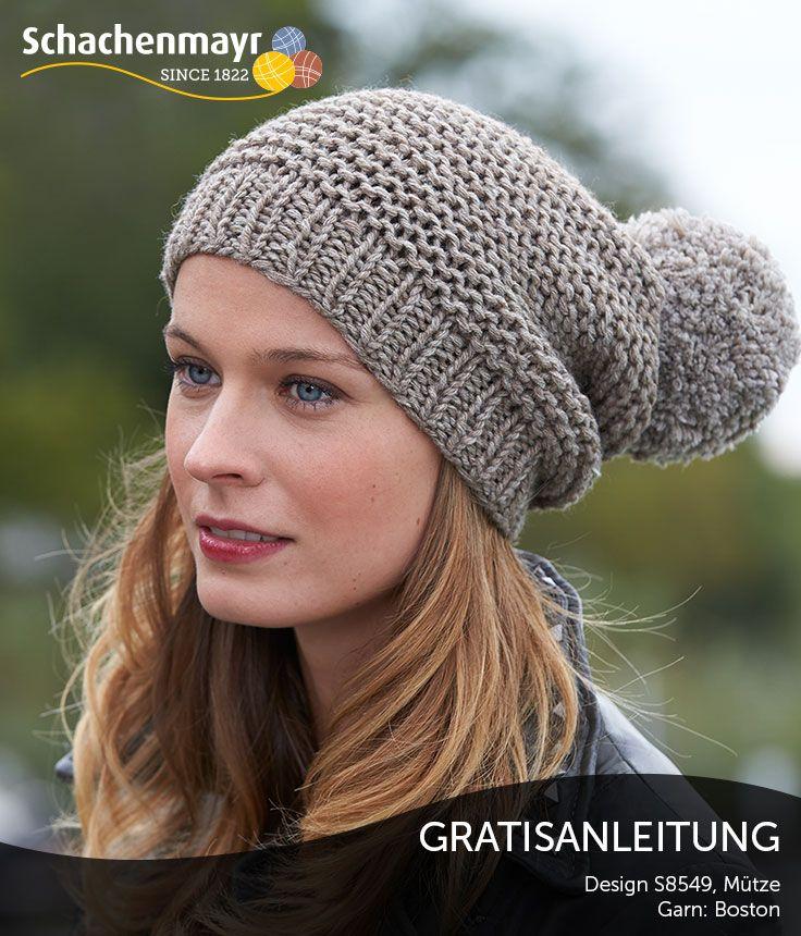 Mütze aus Schachenmayr Boston - trendig, modisch und farblich up to ...
