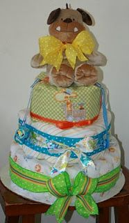 3 tiered diaper cake with tutorial