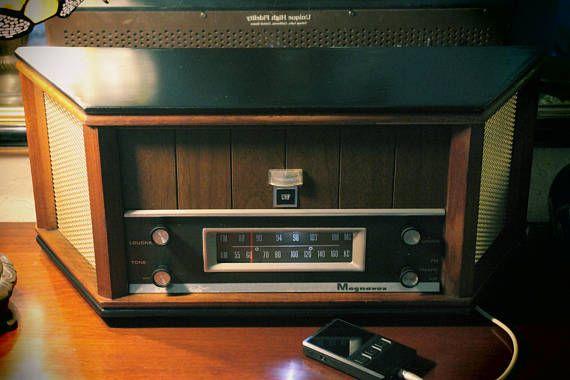 Very Large Tabletop Bluetooth Tube Radio Speaker Vintage