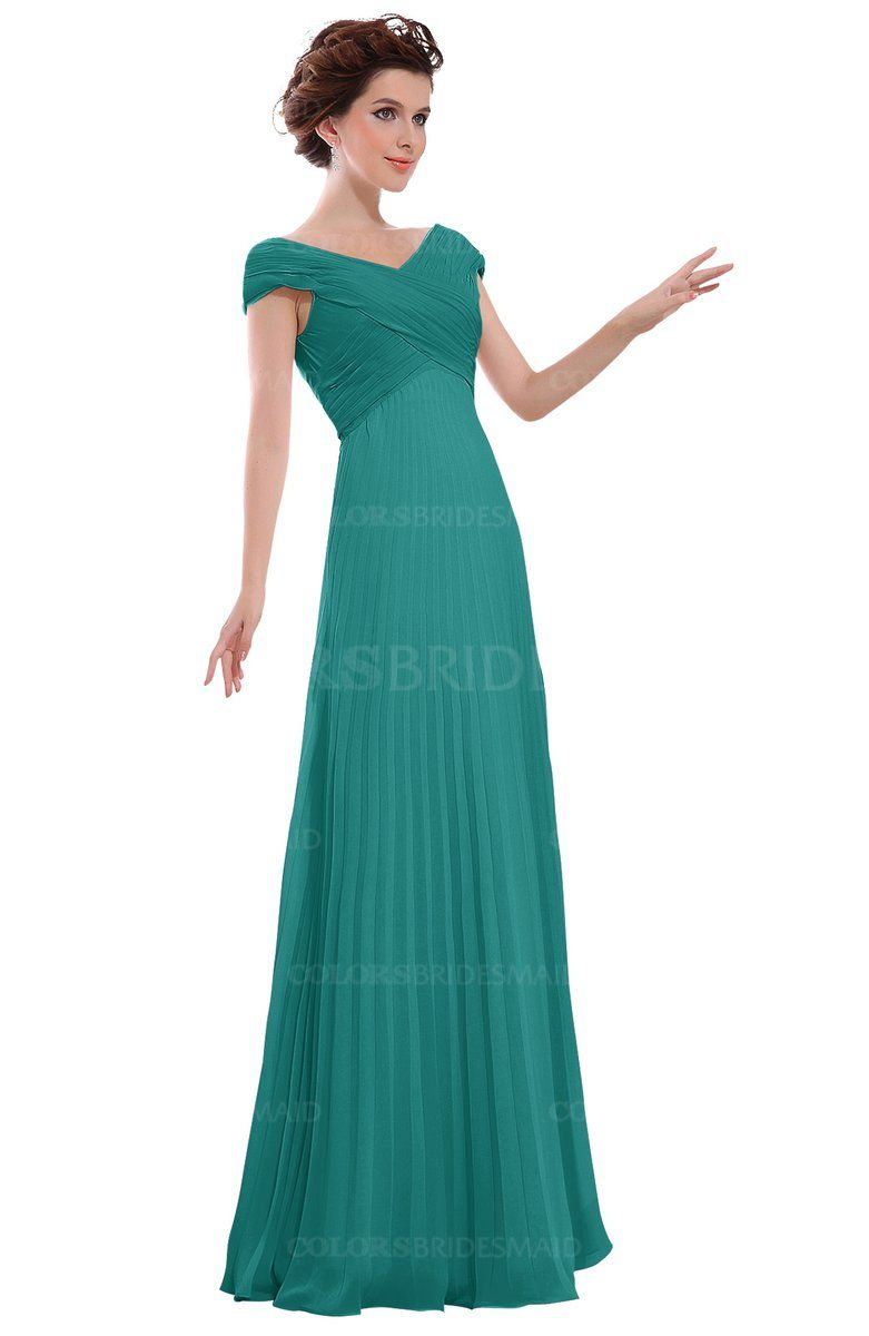6a510827bf7 Emerald Green Casual V-neck Zipper Chiffon Pleated Bridesmaid Dresses at a  discount price on