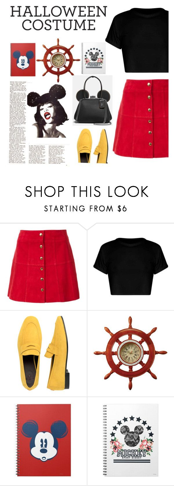 """""""Style #12 Mickey Special"""" by vinkyzain ❤ liked on Polyvore featuring Ines de la Fressange, Bougeotte, Disney, disney, mickeymouse, disneycharacter and halloweencostumes"""
