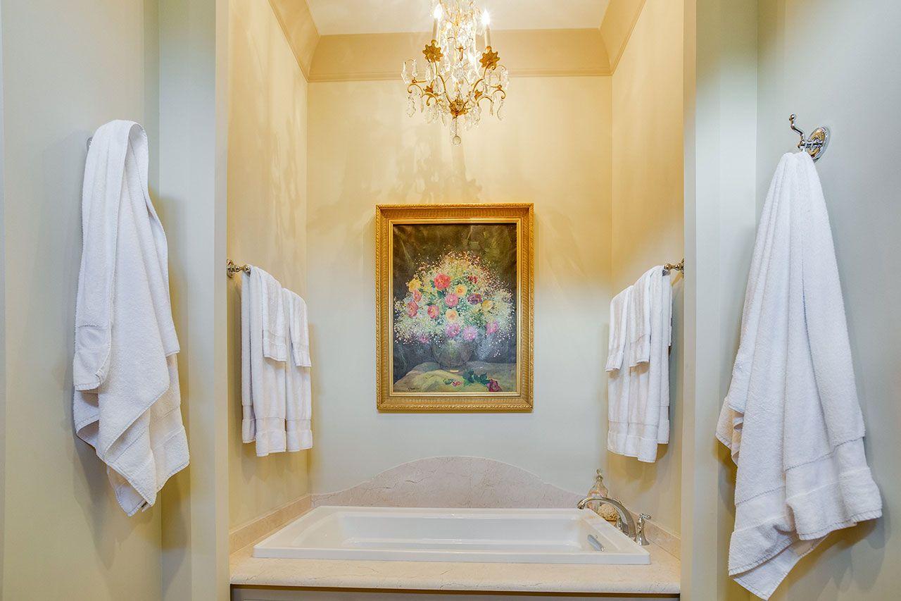Crema Marfil Honed Marble Bathroom Countertops And Tub Surround Marble Bathroom Marble Countertops Bathroom Bathroom Countertops
