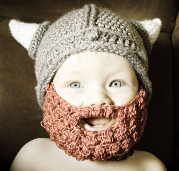 Viking Hat and Beard for Baby Toddler Child Adult | crochet ...