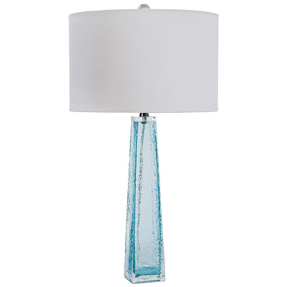 Regina Andrew Lighting Tapered Glass Light Blue Table Lamp ...