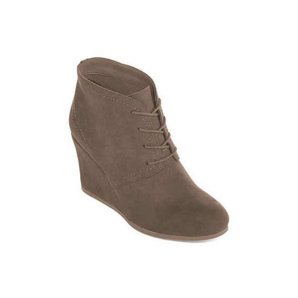 Arizona Lacie Wedge Ankle Booties 36 Liked On Polyvore