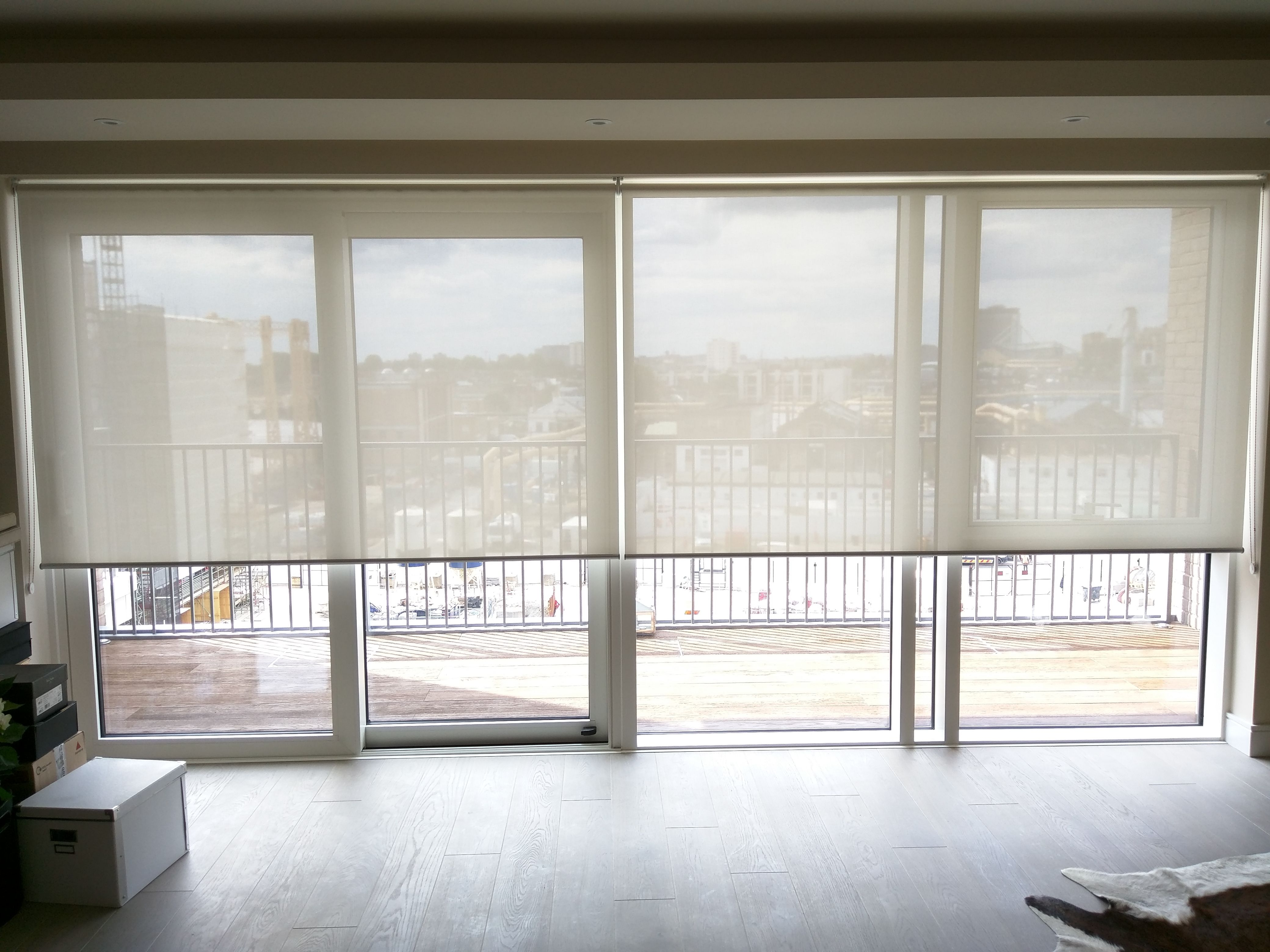 Sunscreen Roller Blinds Floor To Ceiling Windows Sliding Glass