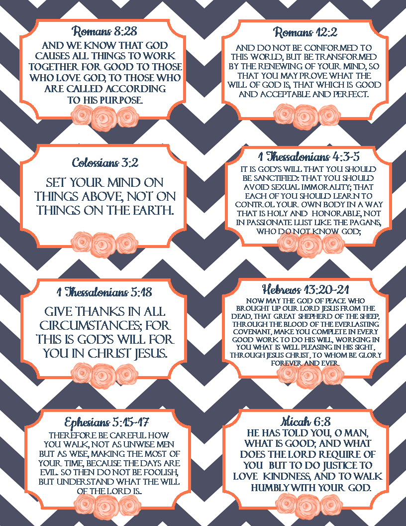 Pin by the blogging pastors wife on quotes and verses pinterest free printable verse cards on gods will scripture memory cards on knowing reheart Gallery