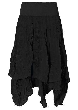 Black Layered Skirt 3 Mode Modestil Alternative Mode