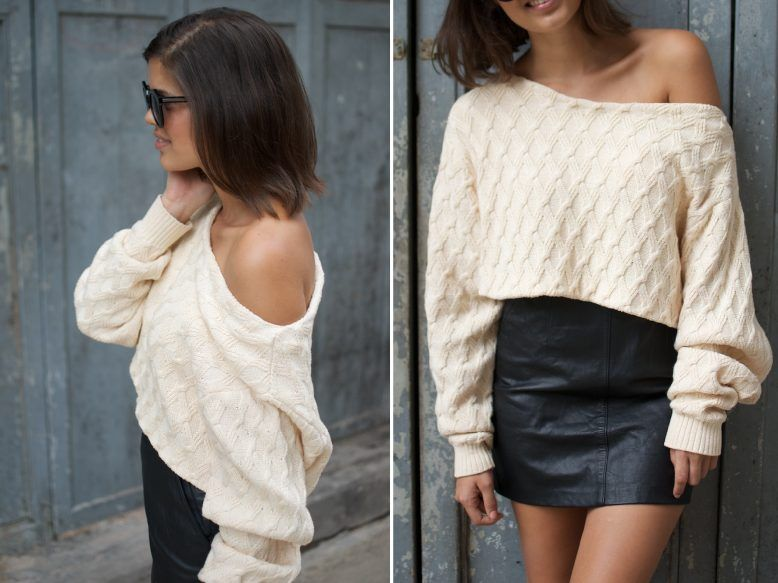 A Pair & A Spare | Before & After: DIY Cropped Knit