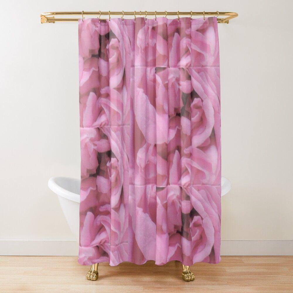 Rose Flower Delicate Rose Color Shower Curtain In 2020 Rose