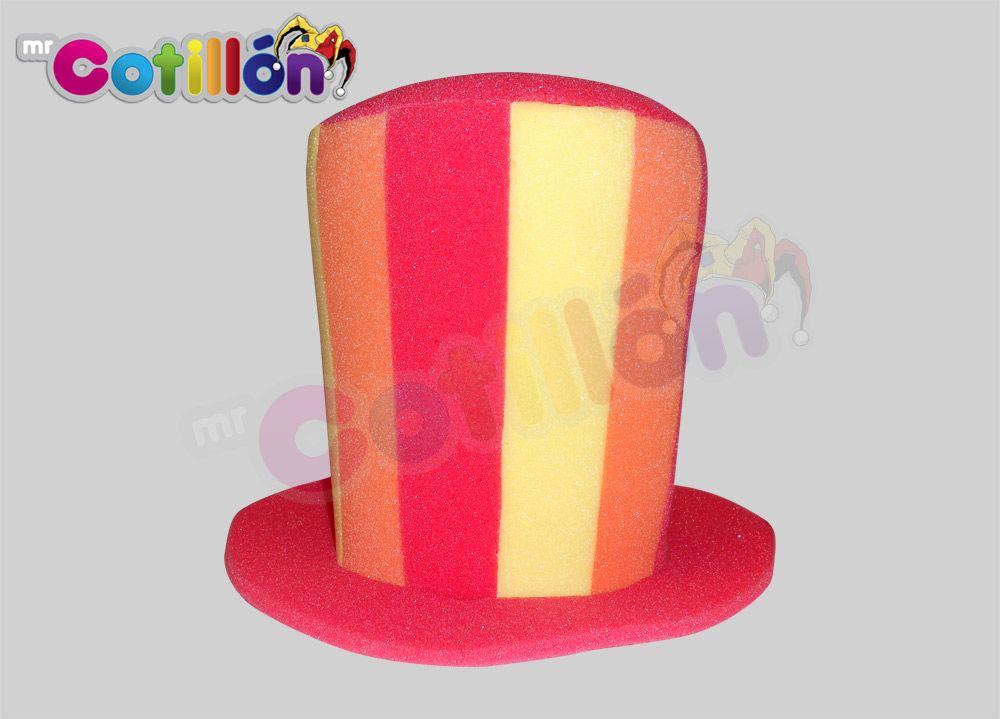 Sombrero copa Líneas Mr. Cotillón  a6a2359a3e2