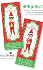 Elf Magic Dust - Printable Tags with directions on how to bring back an Elf on the Shelf's magic!