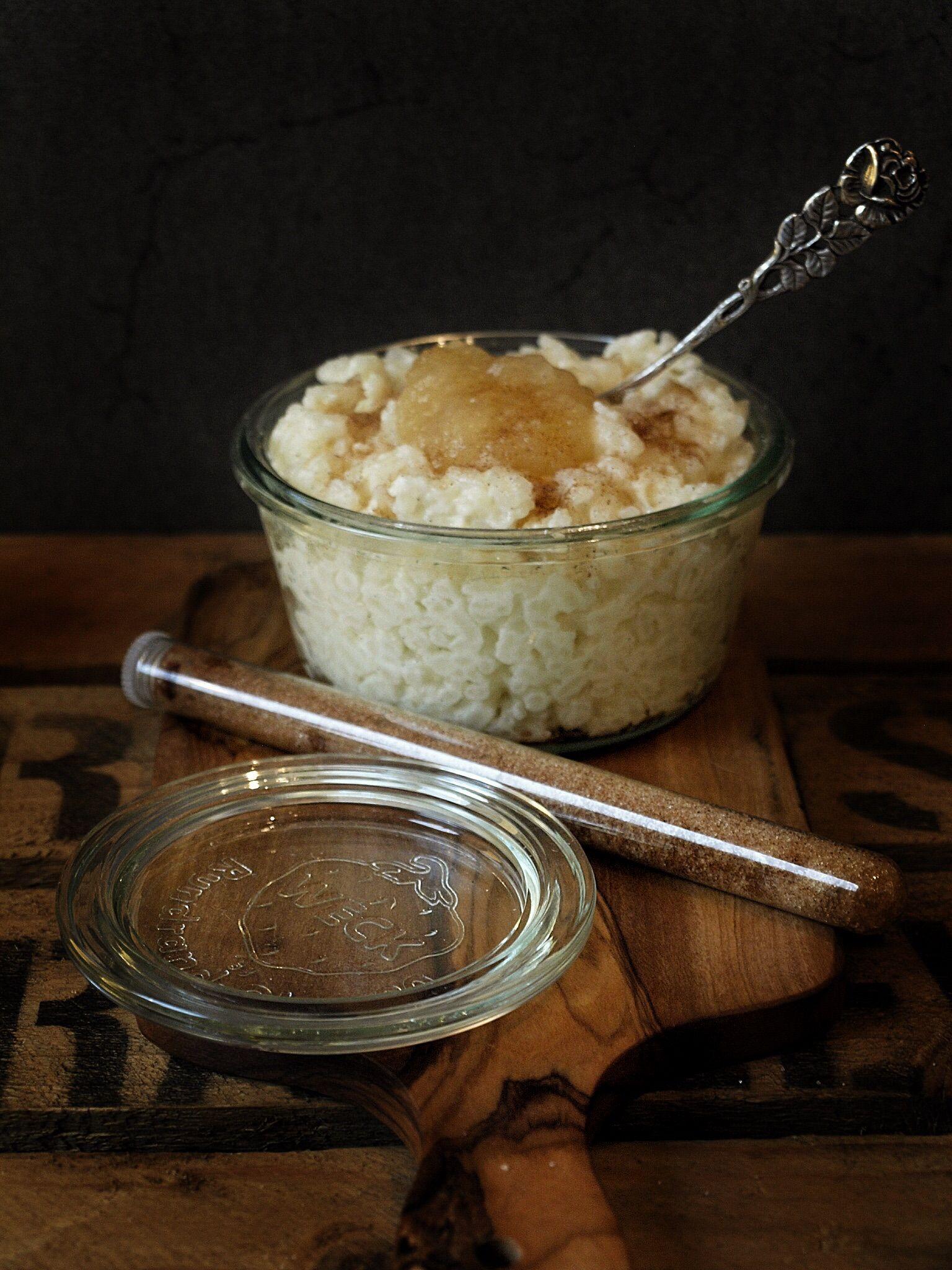 Milchreis Mit Zimt Und Zucker Oder Fruchtig Mit Apfelmus Zimt Und Zucker Milchreis Kochen Rezepte