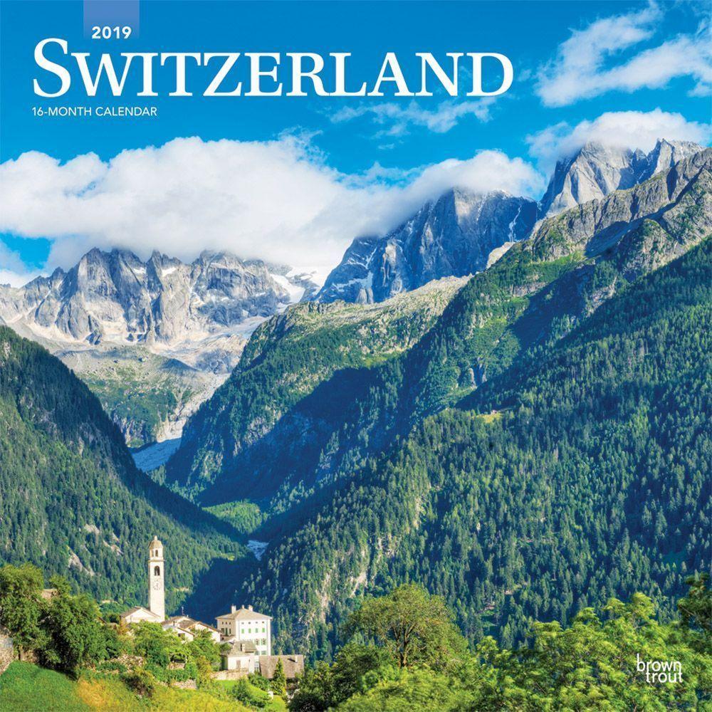 Switzerland 2020 Wall Calendar Travel, Calendar, Switzerland