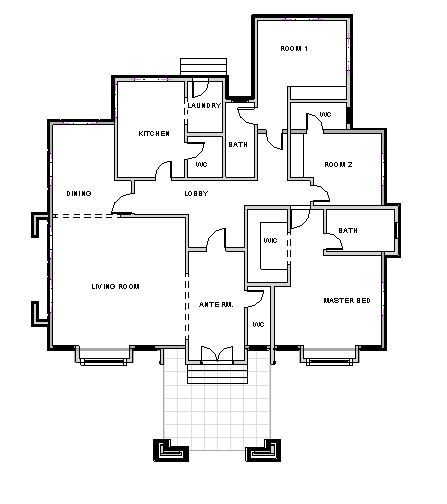3 Bedroom Bungalow Ref 3025 Bungalow Floor Plans Three Bedroom House Plan 3 Bedroom Bungalow