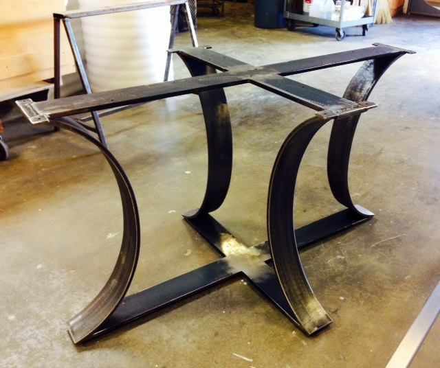 Seventh 7th Designs Metal Table Base Metal Furniture Steel