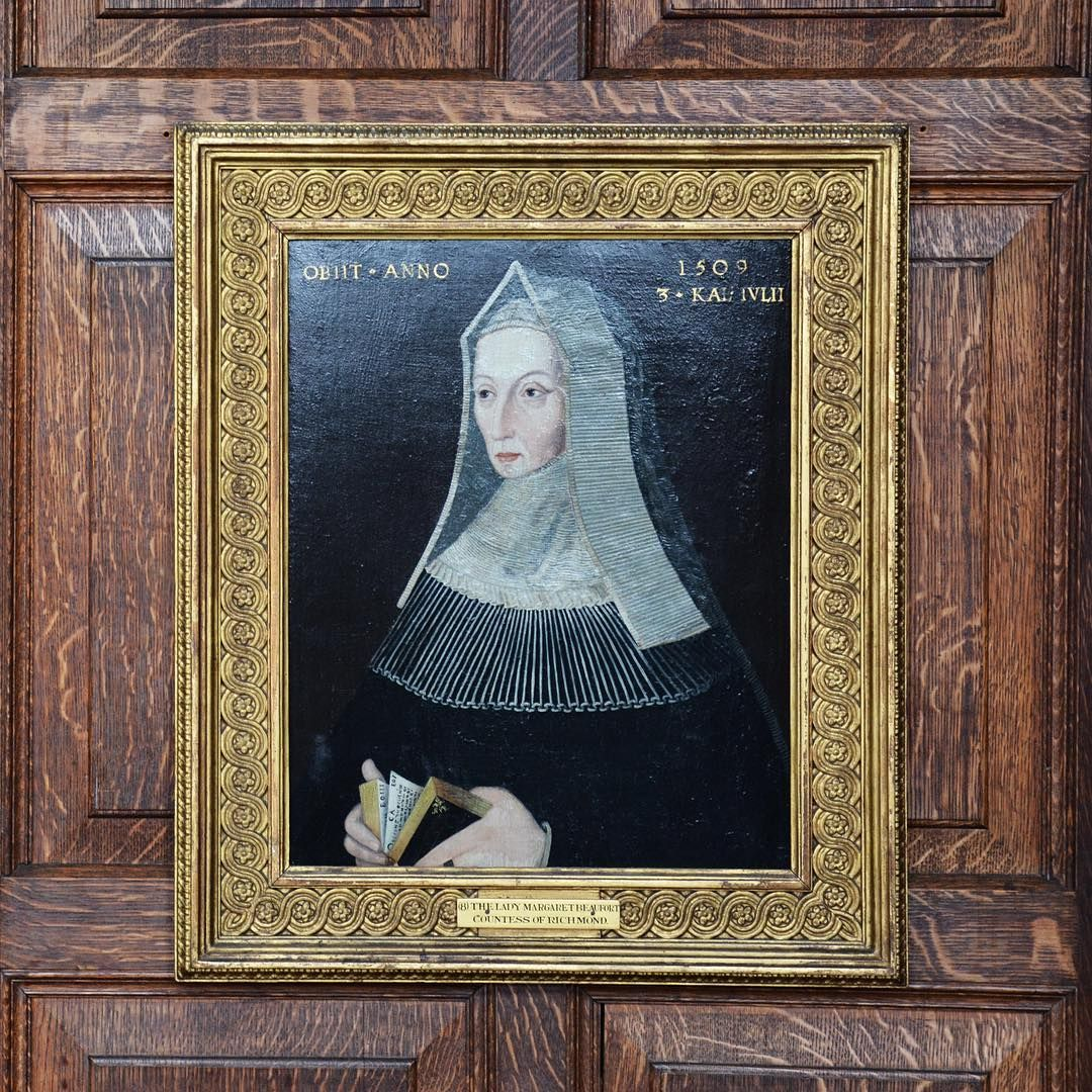 The Lady Margaret Beaufort (1442-1509), a daughter of the Duke of Somerset. She was an influential figure in the War of the Roses and as mother of Henry VII, the matriarch of the Tudor dynasty: