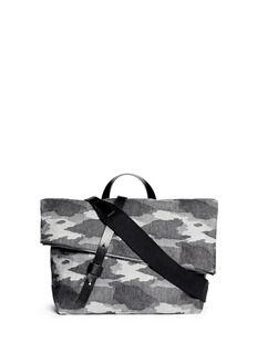 SEVENTY EIGHT PERCENT'Gustav' camouflage canvas messenger bag