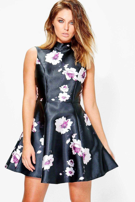 4975d7a86f Floral Satin Skater Dress https   www.australiaqld.com product