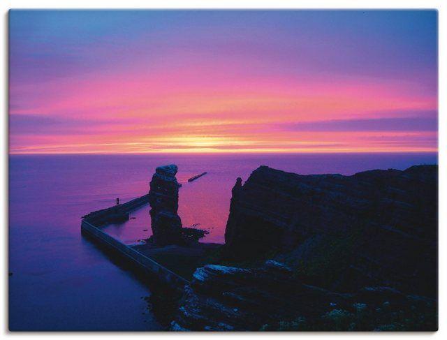 Leinwandbild »Kattobello: Abend auf Helgoland« #naturallandmarks