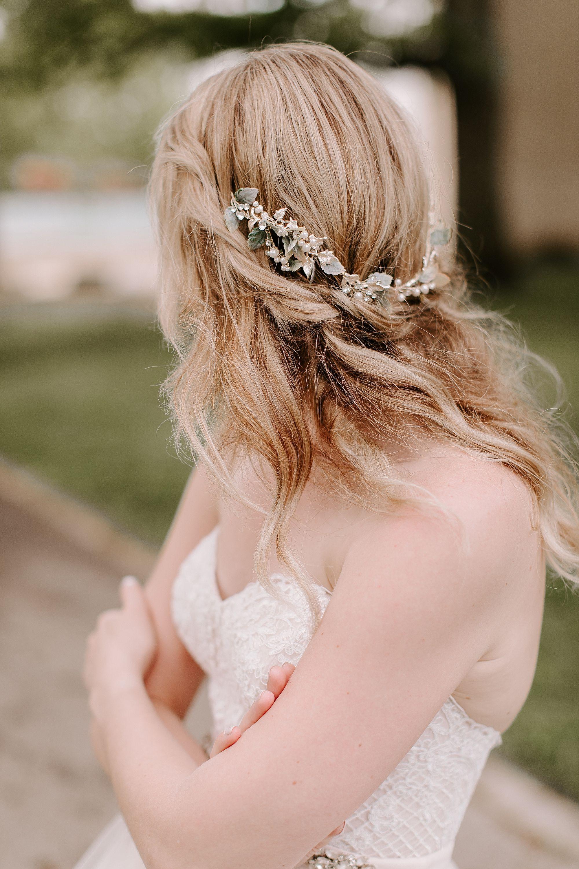 Wedding dress details hair piece boho bride two piece wedding