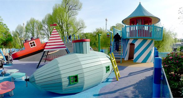 Danish playground; link to plenty more fabulous playgrounds: http://www.luvaville.com/blog/danish-playgrounds-by-monstrum