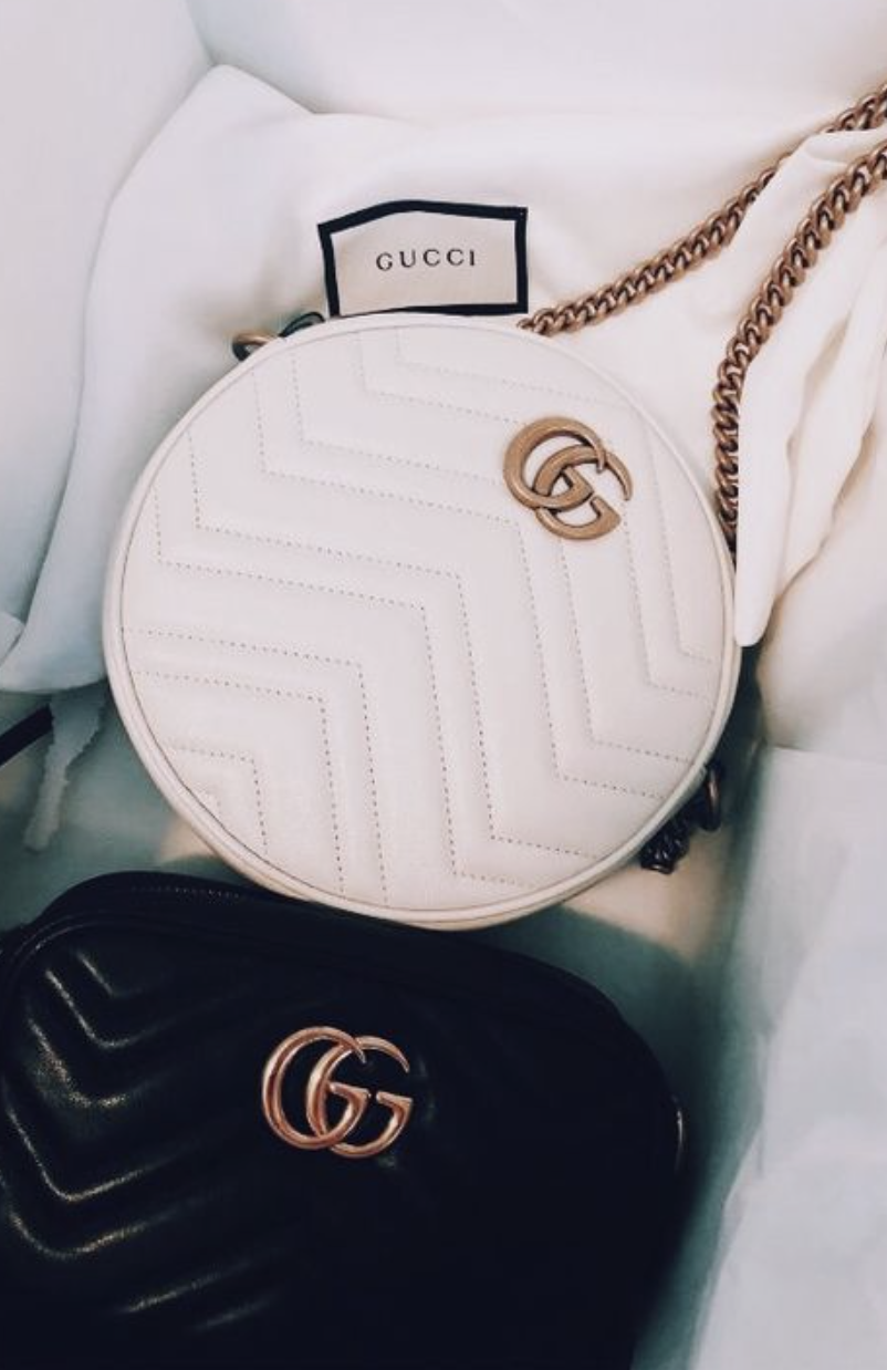 Gucci GG Marmont Mini Round Shoulder Bag   Gucci GG Marmont Matelasse  Leather Mini Bag   f4fc8bb9fa