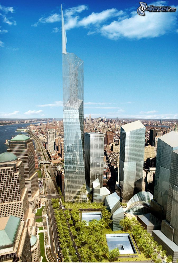 Libeskind S Freedom Tower Proposal 2003 Tower Amazing Architecture Tower Design