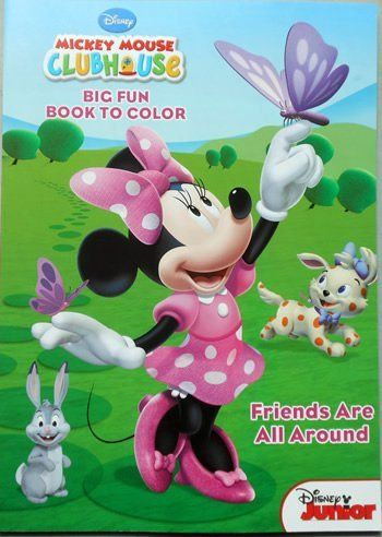 Disney Mickey Mouse Clubhouse Coloring Book Friends Are All Around Featuring Minnie By Dalmation