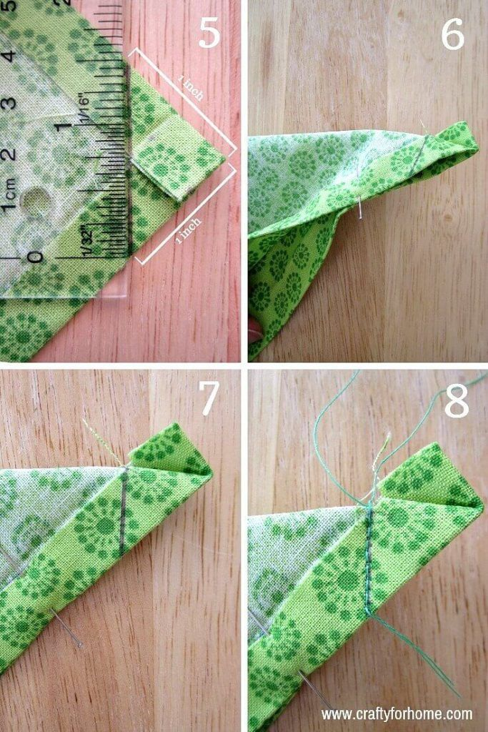 Photo of Sew Easy Handmade Mitered Corners Napkins