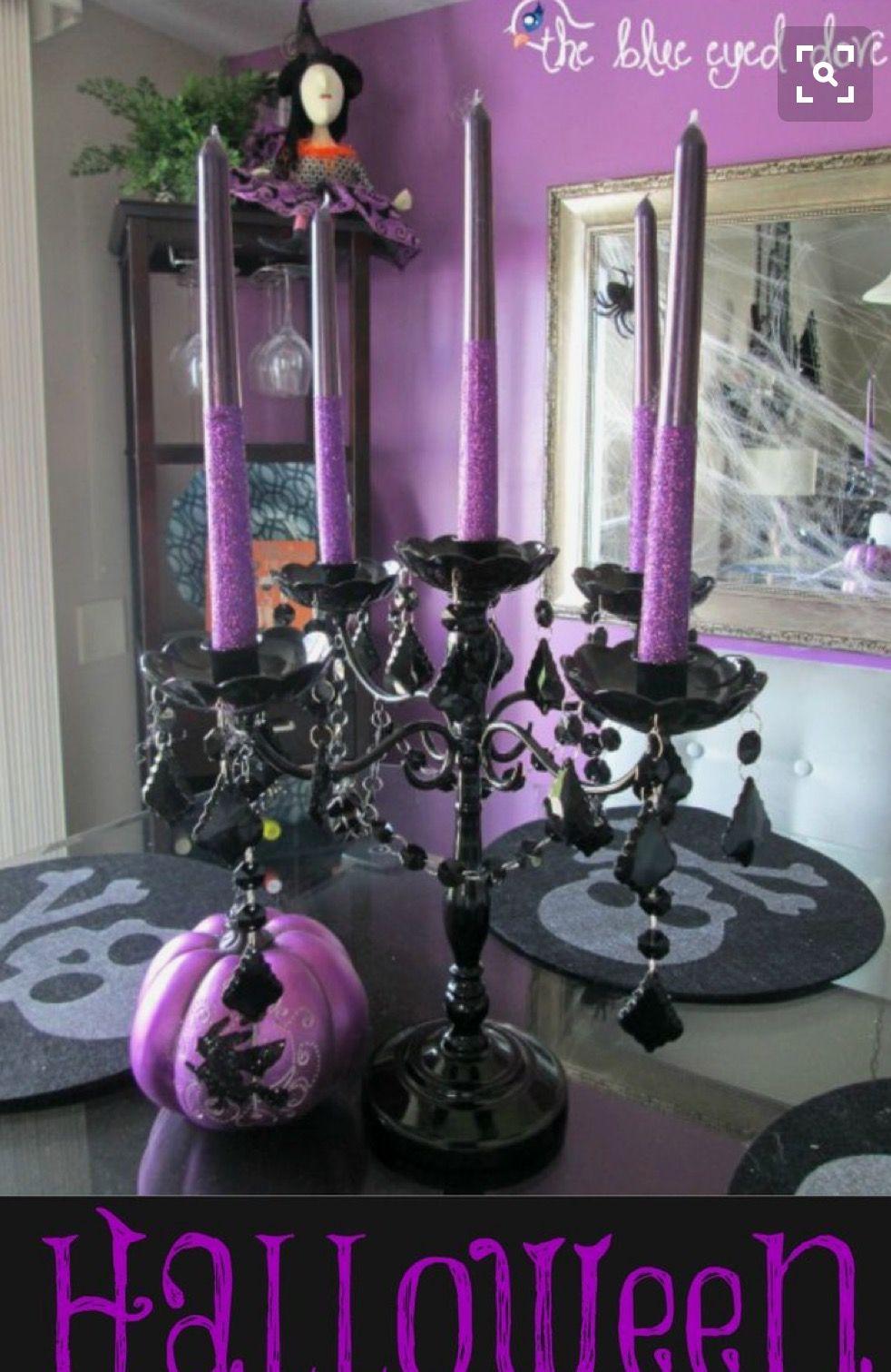HALLOWEEN DECOR candelabra centerpiece Halloween