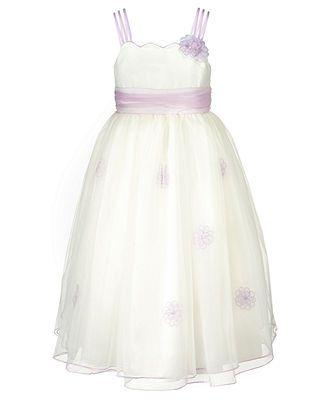 Bonnie Jean Kids Dress, Little Girls Flower Dress - Kids Dresses & Dresswear - Macy's