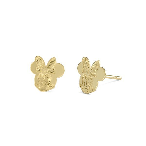 Disney's Minnie Mouse Children's Stud Earrings in 10K Yellow Gold - 2202220