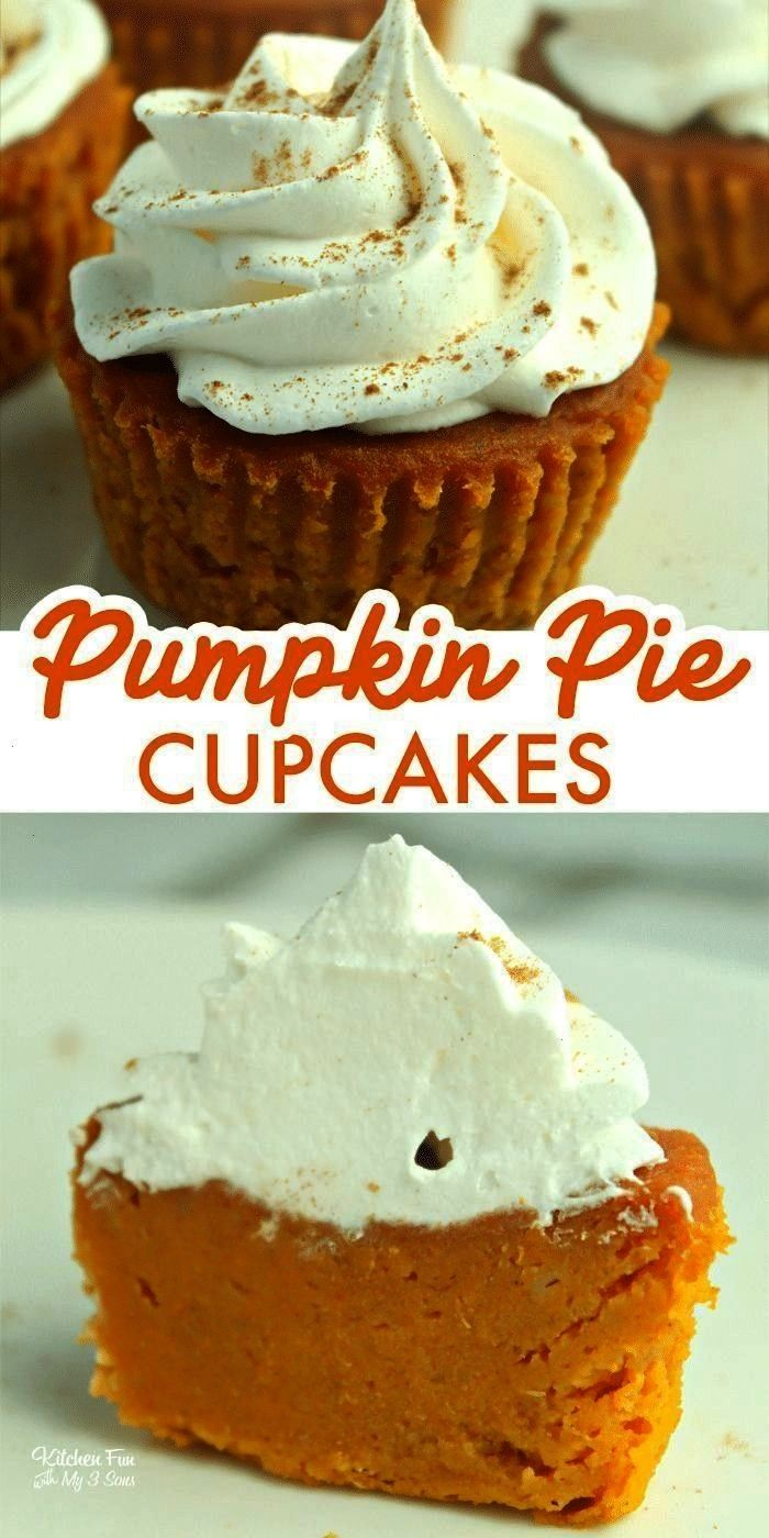 22377329386366365 Pumpkin Pie Cupcakes are tiny pumpkin pies you can eat with your hands. So yum